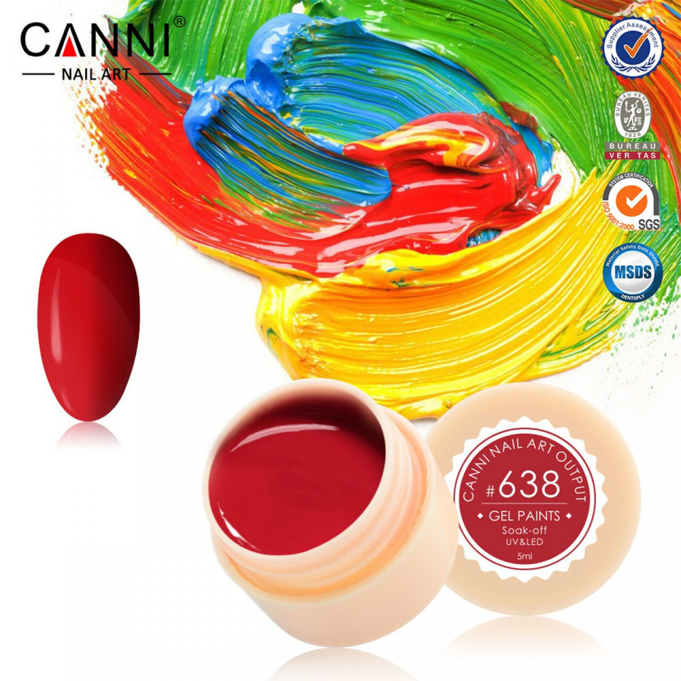Gel color CANNI 5ml 638 baseone.ro
