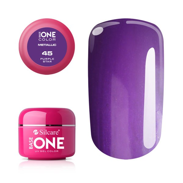 Gel UV Color Base One 5g Metalic Purple Star 45 baseone.ro