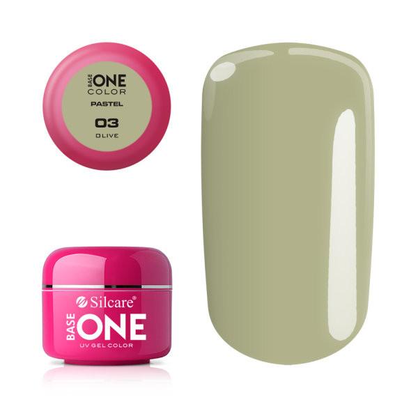 Gel UV Color Base One 5g Pastel 03 Olive baseone.ro