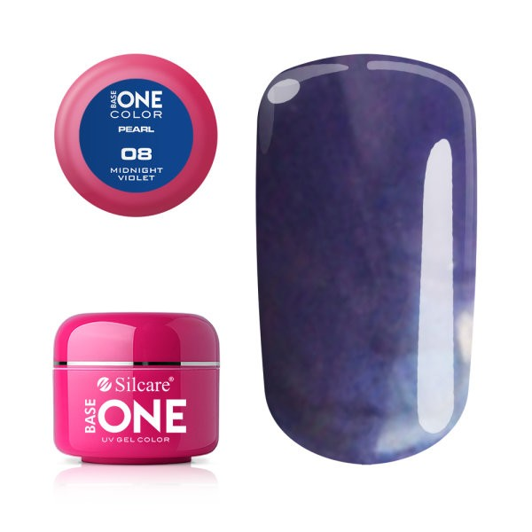Gel UV Color Base One 5g Pearl- Midnight Violet 08 baseone.ro