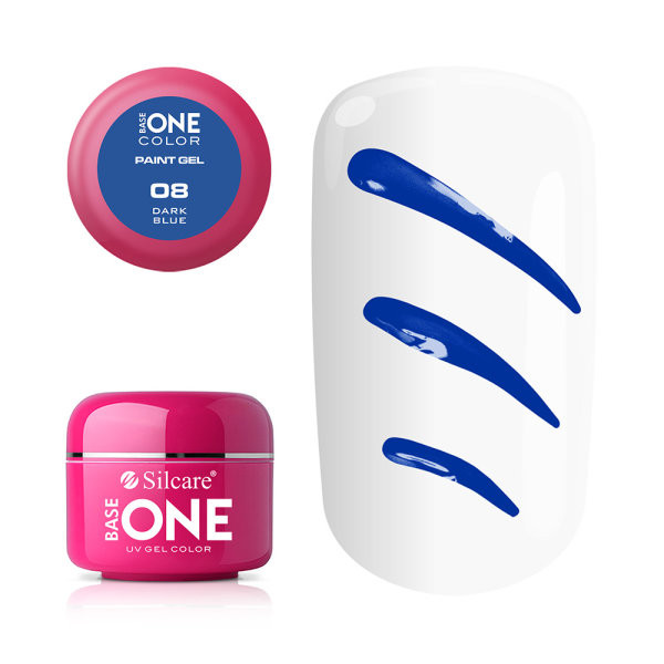 Gel UV Color Base One Silcare Paint Dark Blue 08 baseone.ro