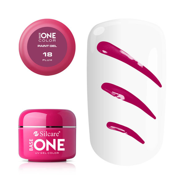 Gel UV Color Base One Silcare Paint Plum 18 baseone.ro