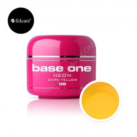 Gel UV Color Base One Silcare Neon Dark Yellow 09