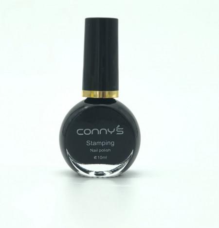 Oja Stampila 10ml Conny's Neagră #1
