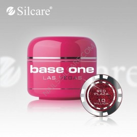 Poze Gel uv Color  Base One Silcare Las Vegas Red Plaza 10