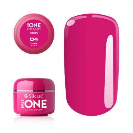 Gel UV Color Base One Silcare Neon Dark Pink 04