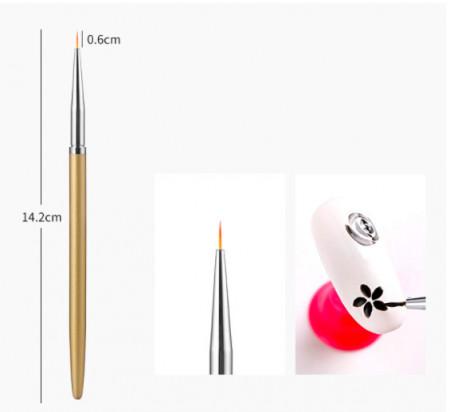 Pensula pictura maner auriu 0.6 cm