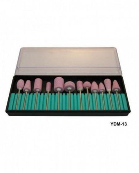 Capete de freza electrica Manichiura set 12 granulatie 180