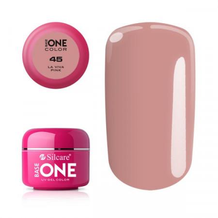 Gel uv Color Base One Silcare Clasic Viva Pink 45