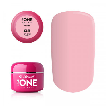 Gel uv Color Base One Silcare Matt Cream Pink 08