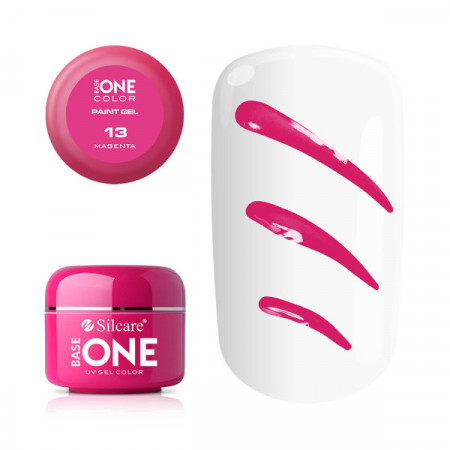 Gel UV Color Base One Silcare Paint Magenta 13