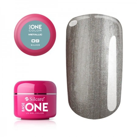 Gel UV Color Base One 5g Metalic Silver 09