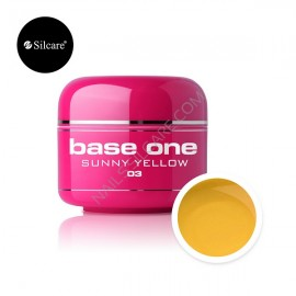 Poze Gel UV Color Base One 5g Sunny Yellow 03