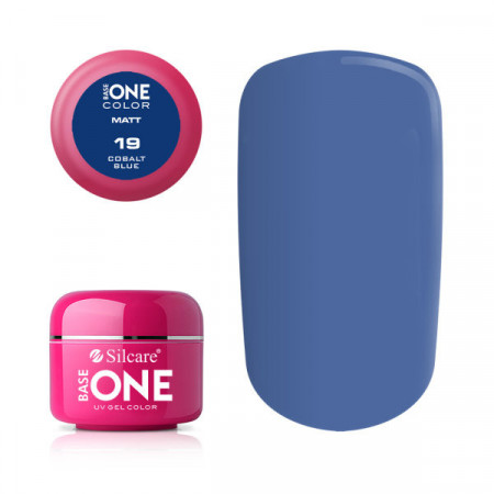 Gel uv Color Base One Silcare Matt Cobalt Blue 19