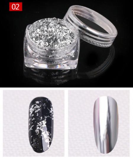 Pudra cu Efect de Oglinda Platinum F407-02-SV