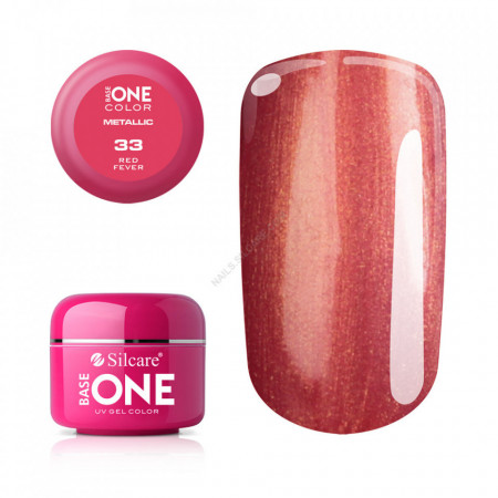 Gel UV Color Base One 5g Metalic Red Fever 33