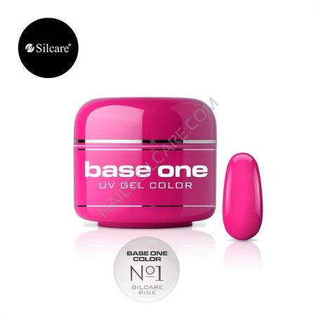 Gel UV Color Base One 5g Silcare Pink No 1