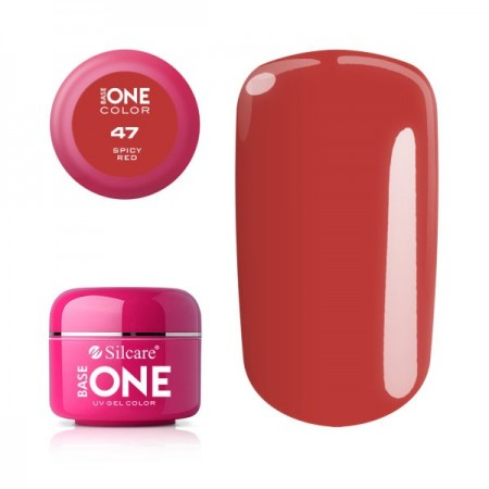 Gel uv Color Base One Silcare Clasic Spicy Red 47
