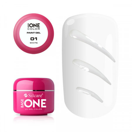 Gel UV Color Base One Silcare Paint White 01