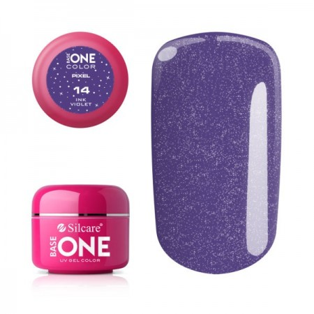 Gel uv Color Base One Silcare Pixel Ink violet 14