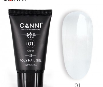 POLY NAIL GEL CANNI NEW FORMULA CLEAR 01 45G