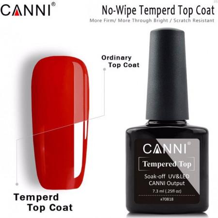Top Coat CANNI TEMPERED TOP No-Wipe Fara Degresare 7.3ML
