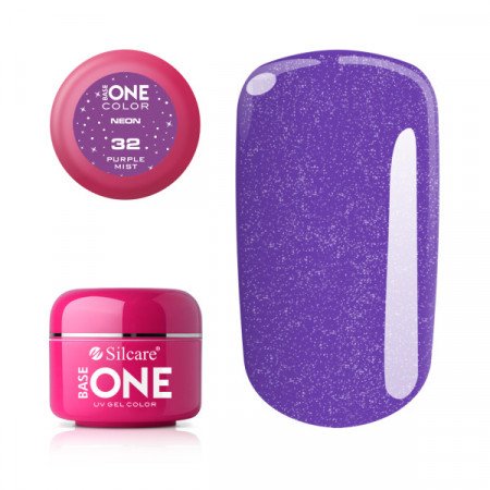 Gel UV Color Base One Silcare Purple Mist 32