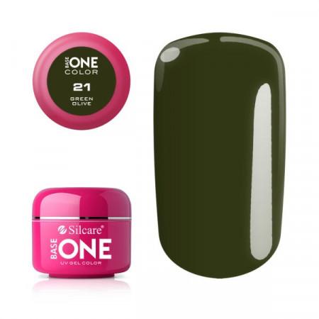 Gel uv Color Base One Silcare Clasic Green Olive 21