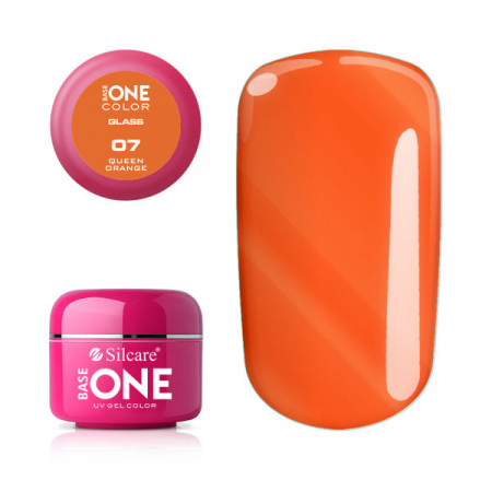 Gel uv Color Base One Silcare Glass Queen Orange 07