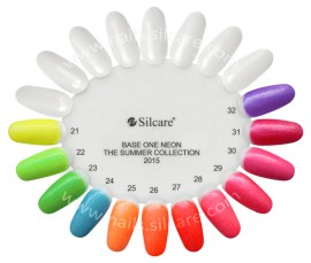 Gel UV Color Base One Silcare Neon Orange 02