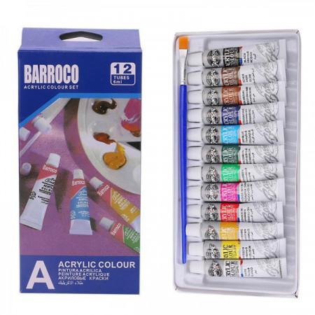 Set 12x vopsele acrilice Barroco 6ml