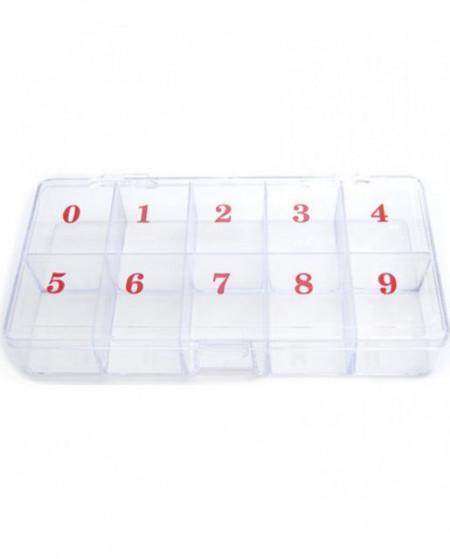 Cutie plastic depozitare decor 10 compartimente P124