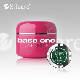 Poze Gel uv Color  Base One Silcare Las Vegas Green Valley 17