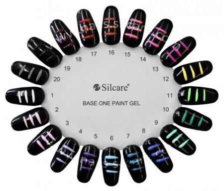 Gel UV Color Base One Silcare Paint Black 19