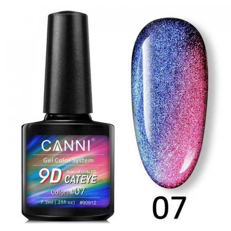 Oja Semipermanenta CANNI 9D Cat Eyes 7.3ml cod 07