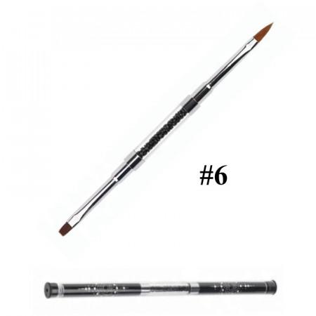 Pensula unghii cu doua capete nr 6