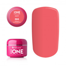 Gel uv Color Base One Silcare Matt Sweet Raspberry 04