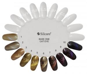 Gel UV Color Base One Silcare Cat Eye Magnetic Profelis 27