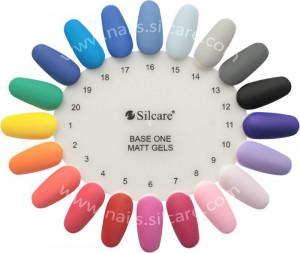 Gel uv Color Base One Silcare Matt Coral Reef 03