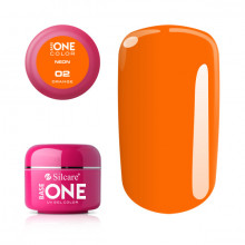Gel UV Color Base One Silcare Neon Orange 02