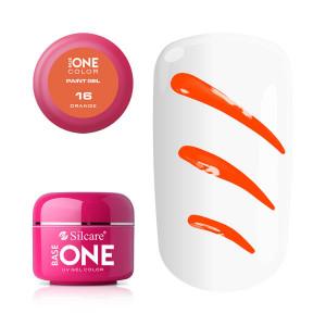 Gel UV Color Base One Silcare Paint Orange 16