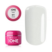 Gel uv Color Base One Silcare Pixel White Power 01