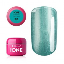 Gel UV Color Base One 5g Metalic Turquoise 06