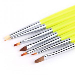 Set 7 pensule maner galben neon
