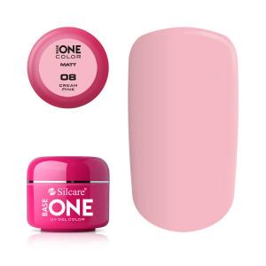 Gel uv Color Base One Silcare Matt Cream Pink 08