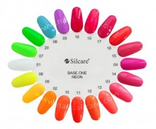 Gel UV Color Base One Silcare Neon Clear sky 24