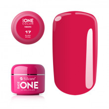 Gel UV Color Base One Silcare Neon Ruby Pink 17