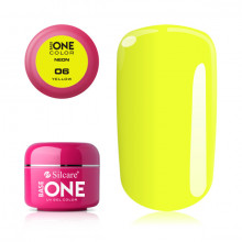Gel UV Color Base One Silcare Neon Yellow 06