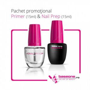 Pachet Promotional Primer Base One 15ml+Nail Prep 15ml