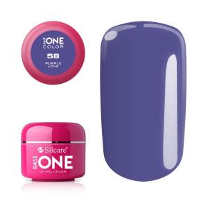 Gel uv Color Base One Silcare Clasic Purple Love 58